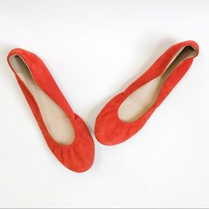 J.Crew Cece Suede Ballet Flats in Burnt Orange 8